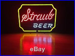 Vintage Straub Brewery Three Color Neon Beer Advertising Sign St. Marys Pa