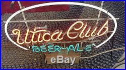 Vintage Utica Club Neon Sign Franceformer Rare