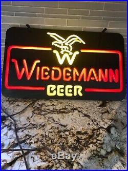 Vintage Wiedemann Beer Neon Sign Light Bar Pub Decor Man Cave Advertisement 22