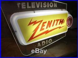 Vintage Zenith Neon TV Radio Sign acrylic L@@K