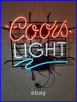 Vintage coors light neon sign 18X21