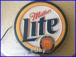 Vintage miller lite neon sign
