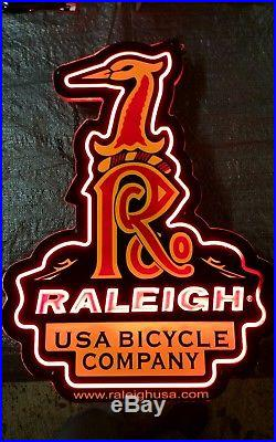Vintage raleigh usa neon bicycle shop sign #2: Vintage raleigh usa neon bicycle shop sign 01 sbz
