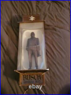 Vintage rare busch bavarian beer Louie Armstrong lighted sign neon bar lamp htf