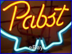 Vtg Property of PABST BREWING BLUE RIBBON BEER NEON Light SIGN Milwaukee, WI