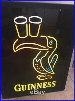 Vtg RARE Guinness Irish Lager Ale Toucan Neon Sign Beer Bar Pub Mancave 20X16