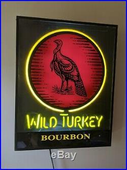WILD TURKEY Vintage Boxed Neon Bar Sign RARE