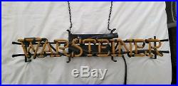 Warsteiner Beer Sign Golden Neon from Germany vintage rare perfect for man cave