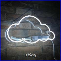 White Color Cloud Shape Neon Sign Light Wall Bar Beer Pub Club Vintage Man Cave