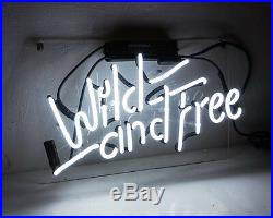 Wild And Free Boutique Porcelain Custom Vintage Beer Store Gift Neon Sign