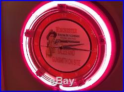 Man Cave Neon Signs For Sale : Winchester sales gunsmith rifle firearms store man cave neon wall