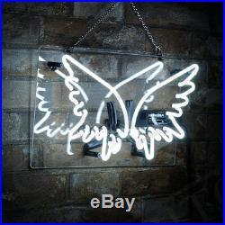 Wing Shape Beer Porcelain Decor Custom Boutique Vintage Neon Sign Handcraft