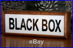 Wooden timber light box sign Black Box neon sign lightbox lamp vintage style