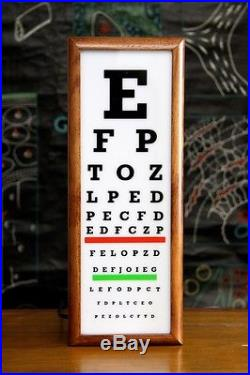Wooden timber light box sign EYE TEST neon sign lightbox lamp vintage style