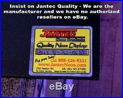 XL Antiques Neon Sign Jantec 45 x 15 Pawn Shop Vintage Old Store Silver