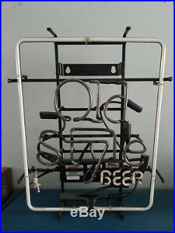 (vtg) Old Style Beer Neon Light Up Sign Bar Game Room Man Cave Chicago